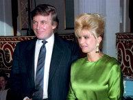 Дональд Трамп и его бывшая жена Ивана Трамп, 1991 год