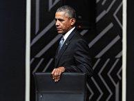 Президент США Барак Обама на первом рабочем заседании лидеров экономик саммита АТЭС в Лиме