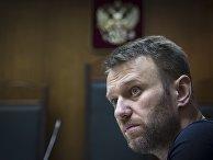 Алексей Навальный во время судебного слушания