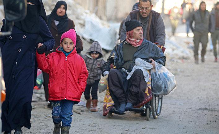 Эвакуация мирных жителей из восточного Алеппо