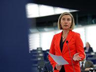 Главный уполномоченный Евросоюза по иностранным делам и политике безопасности Федерика Могерини в Страсбурге. 22 ноября 2016 года