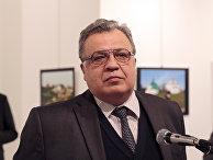 Посол России в Турции Андрей Карлов во время выступления в галерее в городе Анкара