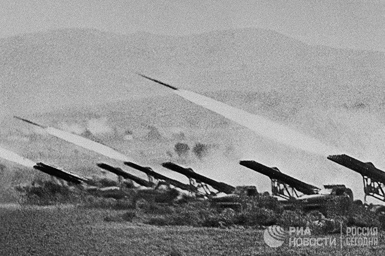 Реактивные установки залпового огня «Катюши», октябрь 1942 г.