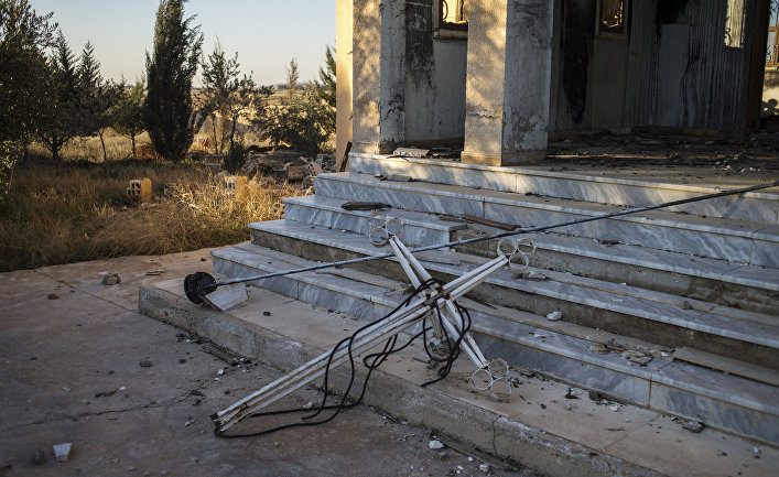 Христианские деревни в провинции Эль-Хасаке на северо-востоке Сирии, разрушенные боевиками ИГ (ДАИШ)