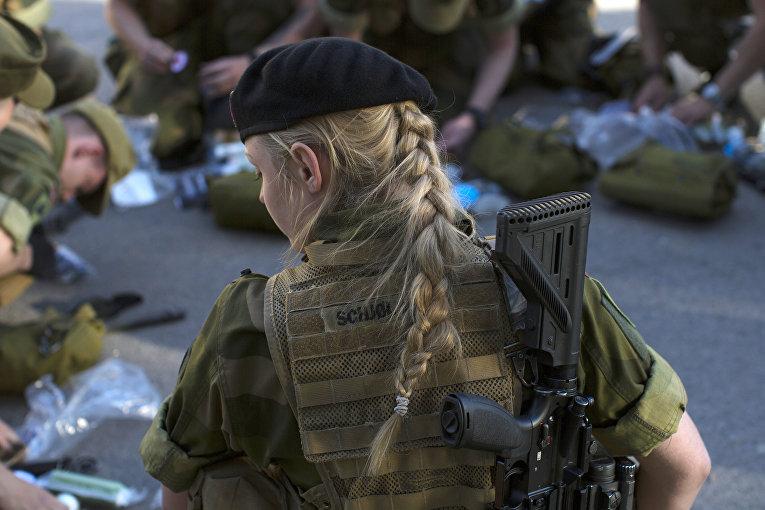 Тренировочная база в бронетанковом батальоне в Норвегии