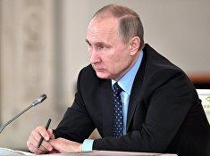 Президент РФ Владимир Путин проводит заседание Государственного совета об экологическом развитии. 27 декабря 2016
