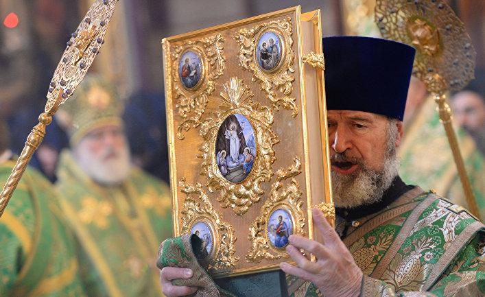 Открытие собрания игумений в Троице-Сергиевой лавре в рамках празднования 700-летия Сергия Радонежского