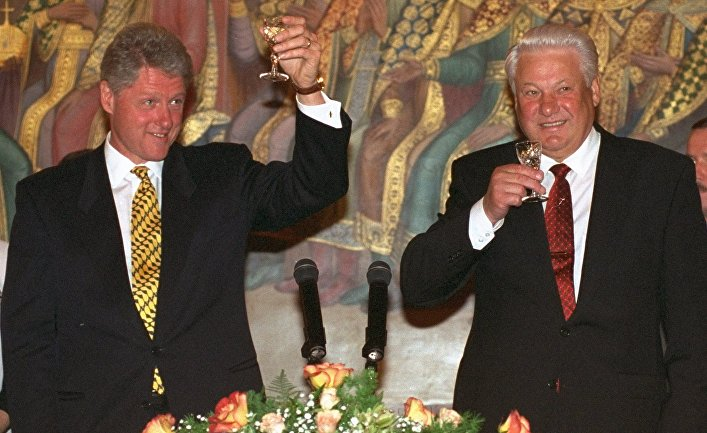 Президент США Билл Клинтон и президент России Борис Ельцин