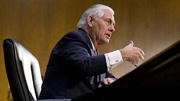 Кандидат на пост госсекретаря США Рекс Тиллерсон на сенатских слушаниях