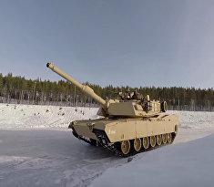 Abrams и Leopard на льду