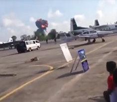 Gripen разбился во время авиашоу