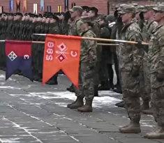 Американских солдат приветствуют в Польше