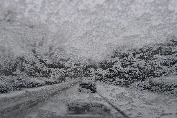 Сильный снегопад в Берлине