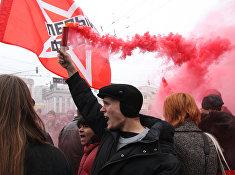 """Активисты движения """"Левый фронт"""" приняли участие в шествии коммунистов"""