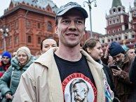 Дадин Ильдар во время митинга