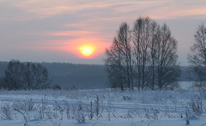 Зима в деревне в Омской области
