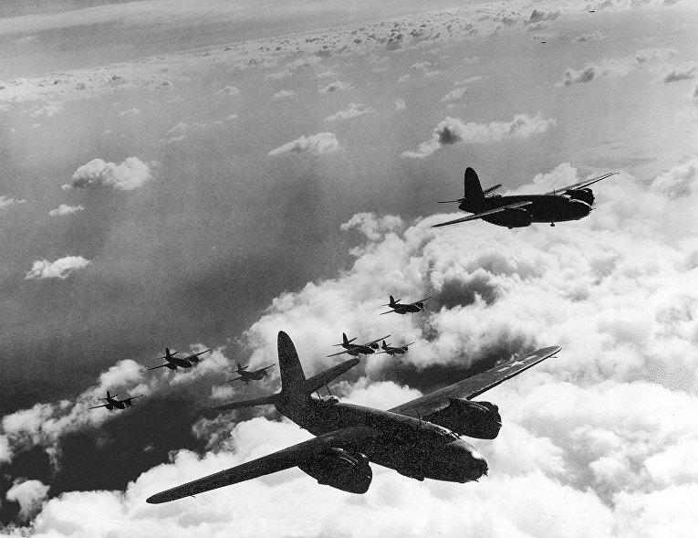 Американские бомбардировщики B-26, апрель 1944 года