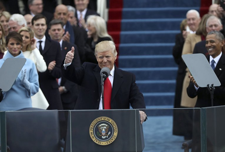 Президент США Дональд Трамп. 20 января 2017