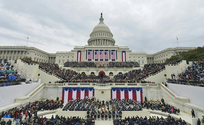 Вид на Капитолий США в Вашингтоне. 20 января 2017