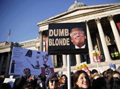 Акция протеста против Дональда Трампа в Лондоне