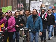 Участники «Марша женщин» в Вашингтоне