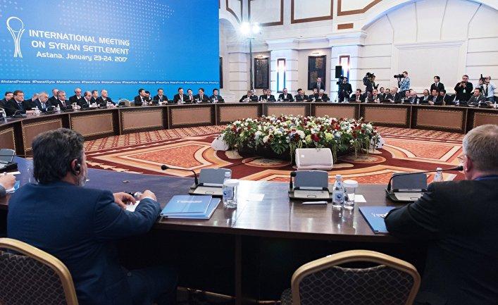 Участники встречи по Сирии на заседании в Астане. 23 января 2017