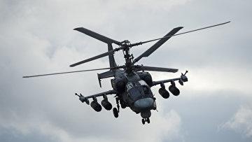 Показательный полет вертолета Ка-52 «Аллигатор»