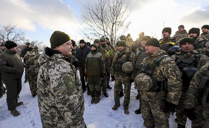 Президент Украины Петр Порошенко в Донецкой области