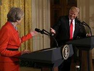 Совместная пресс-конференция президента США Дональда Трампа и премьер-министра Великобритании Терезы Мэй в Белом доме, Вашингтон, США