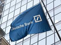 Флаг Deutsche Bank на Уолл-стрит