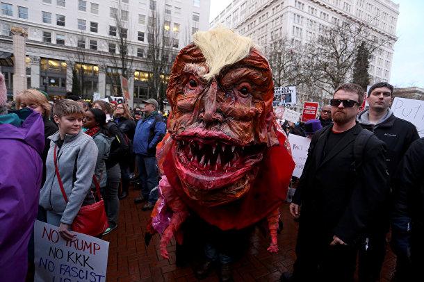 Акция протеста в Портленде