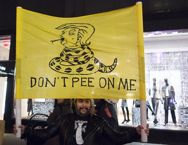 Акция протеста в Нью-Йорке