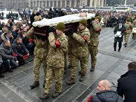 Похороны украинских военнослужащих, погибших на востоке Украины