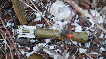 Снаряд на территории села Коминтерново Донецкой области