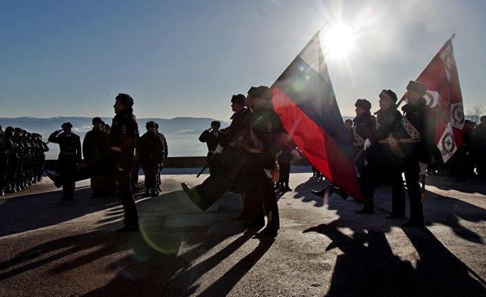 Принятие присяги призывниками национальной гвардии РФ в Крыму