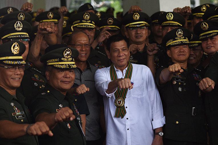 Президент Филиппин Родриго Дутерте. 4 октября 2016 года