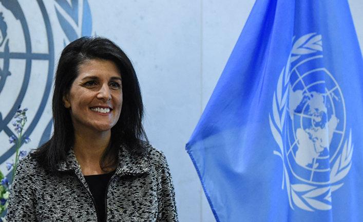 Постоянный представитель США при ООН Никки Хейли. 27 января 2017 года