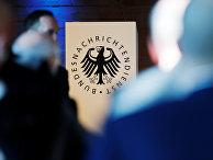 Логотип Федеральной разведывательной службы (БНД) в Берлине