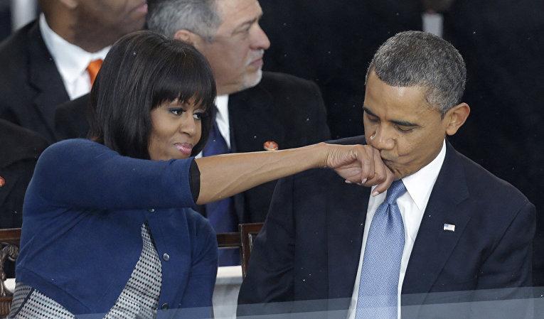 Президент США Барак Обама и первая леди Мишель Обама, архивное фото