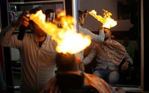 Укладка волос с помощью огня