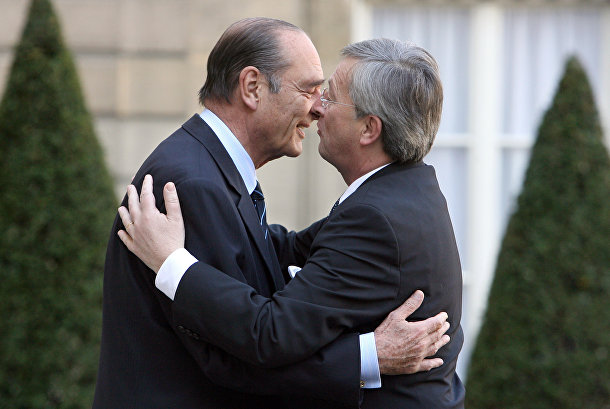 Президент Франции Жак Ширак и премьер-министр Люксембурга Жан-Клод Юнкер, архивное фото