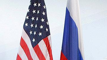Флаги России и США