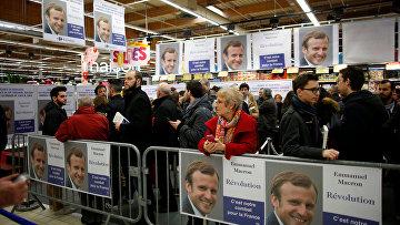 Визит кандидата в президенты Франции Эммануэля Макрона