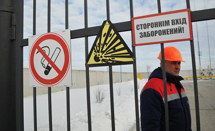 Газораспределительная станция «Нежухив» на Украине