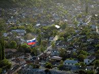Вид на Бахчисарай со скал в Южном Крыму. 2014 год