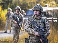 Английские солдаты на учениях в Южной Германии
