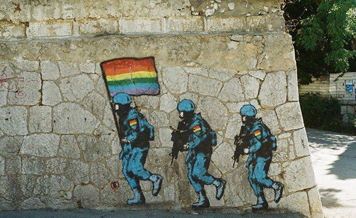Граффити в поселке Симеиз в Крыму