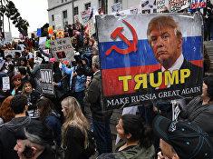 Акция протеста в Лос-Анджелесе