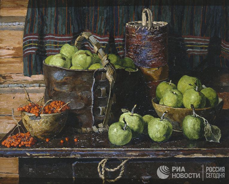 «Натюрморт с яблоками»