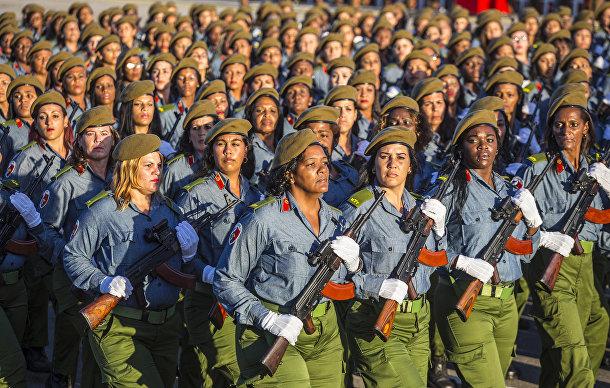 Кубинские женщины-военнослужащие